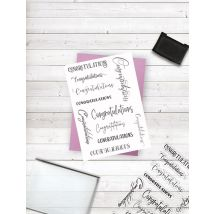 Crafters Companion Photopolymer Stamp - Congratulations