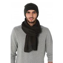 Kaporal - Coffret bonnet+écharpe kaporal vert foncé