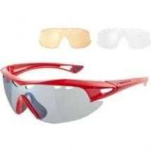Madison Recon Glasses 3 Lens Pack - Gloss Red / Silver Mirror Amber & Clear Lenses