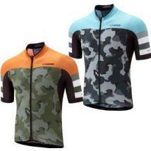 Madison Roadrace Premio Short Sleeve Jersey Camo Ltd Edition  Medium - Camo Olive/Shocking Orange Ltd