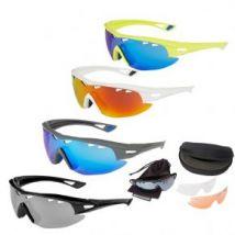 Madison Recon Glasses 3 Lens Pack - Matt Grey/ Blue Mirror Amber & Clear