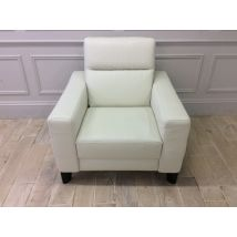 Orlando Armchair in Premium 20JH Leather with Wooden Feet
