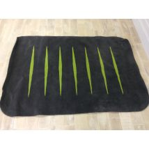 Grey and Lime Slash Rug (TW)