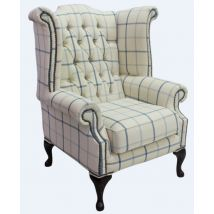 Chesterfield Queen Anne Wing Chair High Back Armchair…