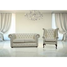 Buy Chesterfield 2 seater with Queen Anne chair set |…