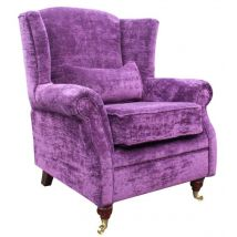 Wing Chair Fireside High Back Armchair Velluto Amethyst…