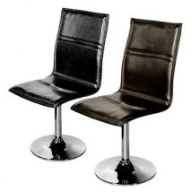 L Shaped Swivel Chair Available In Black Or Brown
