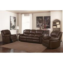 Rigmor Leather And PVC 1 Seater Recliner Sofa In Black Or Brown