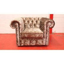 Chesterfield Velvet Club Chair Low Back Wing Chair Lustro Gilded