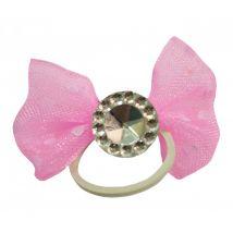 Show-Bows Gummis mit Schleife 20St. Standard Pink