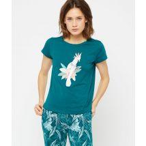 T-shirt imprimé perroquet - LEIDA - Nuit - M - Vert - Femme - Etam