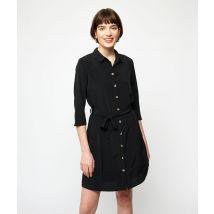 Robe chemise à nouer - JOANE - 34 - Noir - Femme - Etam
