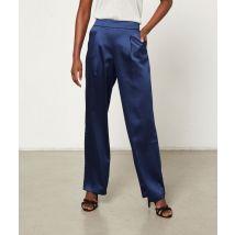 Pantalon large satiné - GALA - 34 - Bleu - Femme - Etam