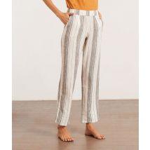 Pantalón pijama estampado de rayas - DONIA - M - Ecru - Mujer - Etam