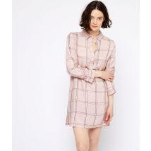 Camisón manga larga estampado de cuadros - WINSTON - S - Rosa - Mujer - Etam