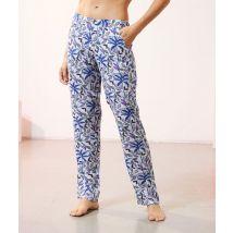 Pantalón pijama estampado - AMINA - L - Azul - Mujer - Etam