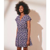 Robe smockée imprimée en coton - MAIA - 40 - Azul - Mujer - Etam