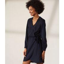 Vestido corto escote cruzado - CLARA - 42 - Azul - Mujer - Etam