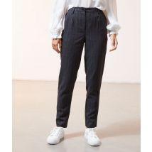 Pantalón rayas diplomáticas - SWANN - 36 - Negro - Mujer - Etam
