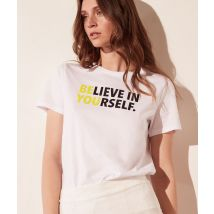 Camiseta 'believe in yourself' - YOURSELF - L - Amarillo - Mujer - Etam