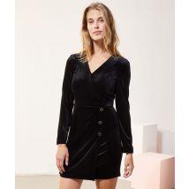 Robe cache-cur en velours - MAX - 38 - Negro - Mujer - Etam