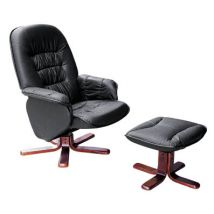 Swivel Lounge Chair and Footstool