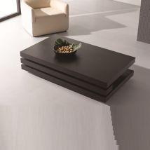 Modern Rectangular Coffee Table In Dark Elm
