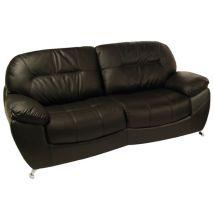 Ella 3 Seater Black Leather Sofa