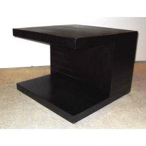 Helsinki Wooden End Side Table In Natural Black Ash