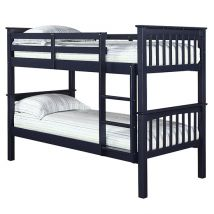Leno Wooden Double Bunk Bed In Blue