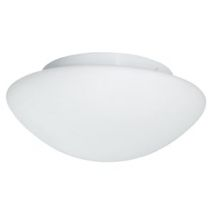 Modern Bathroom White Opal Glass Ceiling Light