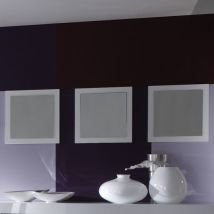 Rossini Set Of 3 Wall Mirror Square In White Gloss