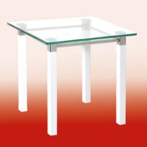 Ritmo End Table In Clear Glass Top