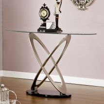 Sphere Glass Console Table