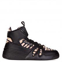 Giuseppe Zanotti TALON Mens High top sneakers Black and white