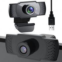 Full HD 1080p webcam - pc camera - zwart - met mic - usb