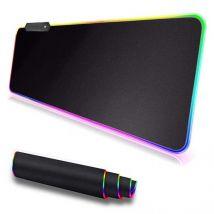 Gaming muismat met led - usb - 80 x 30 cm - zwart