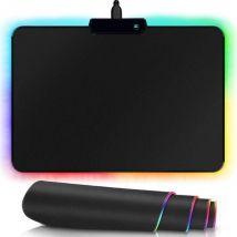 Gaming muismat met led - usb - 35 x 25.5 cm - zwart