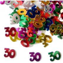 Confettis n°30 multicolores (nombre 30)