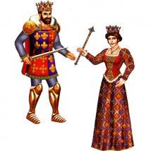 Décor de Reine/Roi en carton