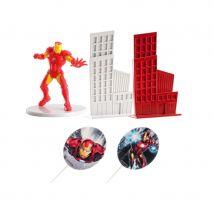 Décorations Iron Man pour gâteau, 8 cm