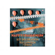 Ensemble de décorations Halloween pour vitrine