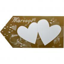 Fleche marron d'indication pour mariage (CHOCOLAT)