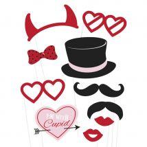 Kit de 10 photobooth sur le thème St Valentin