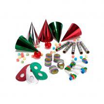 Kit de cotillons multicolores pour 5