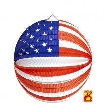 Lanterne boule drapeau Américain