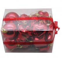 Lot de 20 décorations de noel rouges (ROUGE)