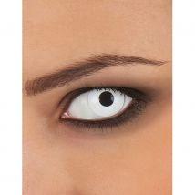 Lentille yeux blancs avec correction usage unique (2.50)