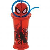 Verre Spiderman en plastique avec paille