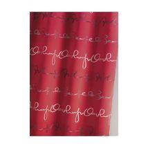 Rideau Ameublement Imprimée 'Ecriture' - Rouge - Jacquard - Home Maison
